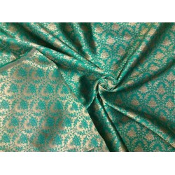 Reversible Brocade fabric green x gold 56'' BRO563[3]
