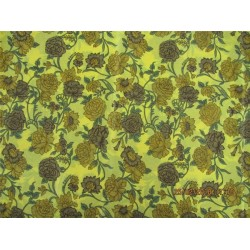 pure silk CDC crepe printed fabric 16 mm weight