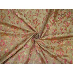 Heavy Silk shaded brocade pink x metallic gold 36'' Bro569[3]