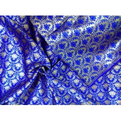 Reversible  Brocade fabric royal blue x gold 56'' BRO563[2]