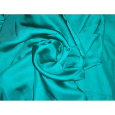 """100% SILK TWILL FABRIC 80 GRAMS 44"""" INCH WIDE TEAL GREEN COLOR"""