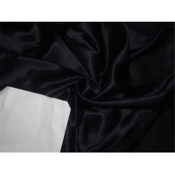 """100% PURE SILK DUPION FABRIC 54""""BLACK   COLOR 21.35 MOMME DUP13A sold by the yard"""