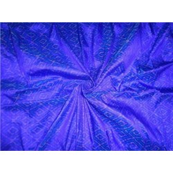 """100% pure silk dupioni ikat fabric blue 44"""" inches by the yard"""