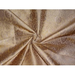 SILK BROCADE FABRIC GOLD X METALLIC GOLD COLOR