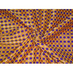 SILK BROCADE FABRIC ROYAL BLUE,YELLOW,MAROON,GOLD COLOR