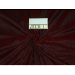 "RED X BLACK SILK DUPIONI 44""~WITH SLUBS"