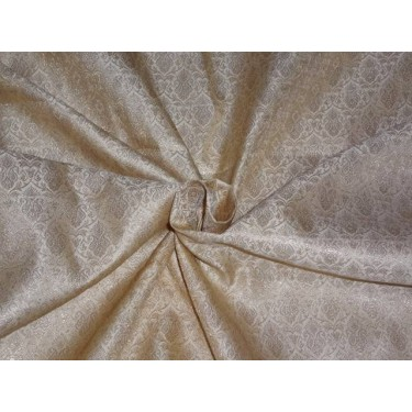 """BROCADE 44""""INCHES BEIGE X GOLD COLOR"""