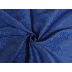 "SILK BROCADE 44""INCHES ROYAL BLUE X BLUE"