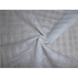 "WHITE COTTON VOILE 44"" WIDE - RIB plaids #1"