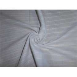 "WHITE COTTON VOILE 44"" WIDE - stripes #3"