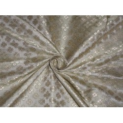"""BROCADE PASTEL GREEN X LIGHT GOLD COLOR 44""""INCH"""