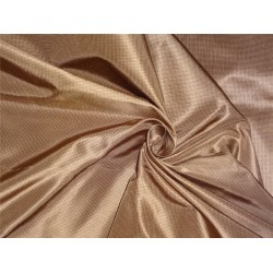 SILK TAFFETA FABRIC BROWN COLOUR PLAIDS,CUT PIECE OF 3.90 yards