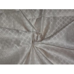 """BROCADE 44""""INCHES IVORY WHITE & METALLIC GOLD COLOR"""