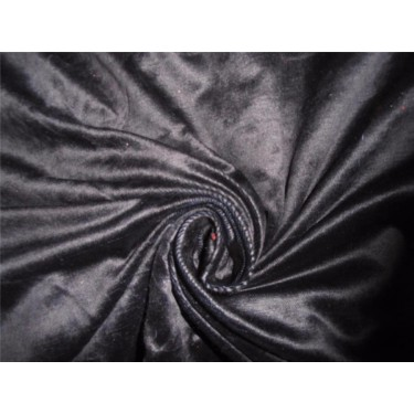 "100% COTTON VELVET FABRIC 54""~BLACK X NIGHT BLUE"