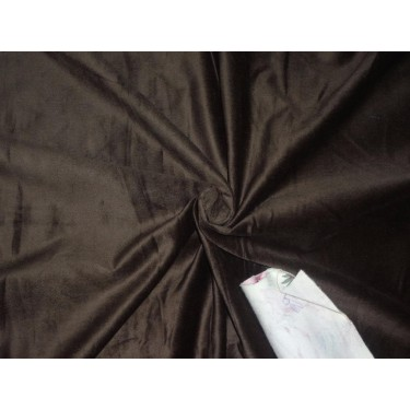"""100% COTTON VELVET WITH LYCRA FABRIC 44""""~COFFEE BROWN"""