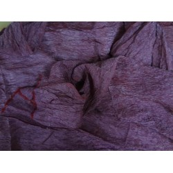 """RICH SILVER WHITE """"CRINKLED""""TISSUE SILK 36""""WIDE MULBERRY X GOLD"""