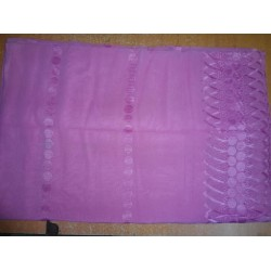 """COTTON VOILE FABRIC~EMBROIDERY-5 YARDS-44""""PINK"""