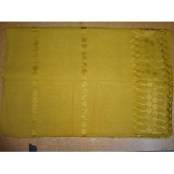 """COTTON VOILE FABRIC~EMBROIDERY-5 YARDS-44""""TURMERIC YELLOW"""