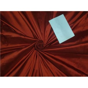 """100% PURE SILK DUPIONI FABRIC RUST COLOR 54""""DUP2[7] BY THE YARD"""