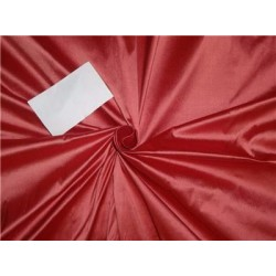 "100% Silk Dupioni fabric 54"" wide- red x coral"