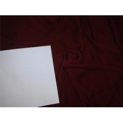 """SILK DOUBLE GEORGETTE FABRIC 54"""" WIDE~ MAROON COLOR*"""