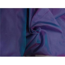 "SILK ORGANZA RICH BLUE X PINK 118"" INCHES WIDE by the yard"
