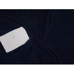 "PURE SILK CREPE FABRIC 44"" NAVY BLUE"