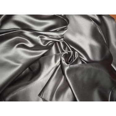 DUTCHESS SATIN 54 INCHES STEEL GREY COLOR 40 momme
