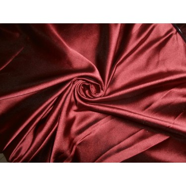 """53 momme polyester dutchess satin 54"""" wide- maroon x black"""