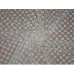 """GEORGETTE SEMI SHEER FABRIC 44"""" COMPUTER EMBROIDERY IVORY COLOR"""