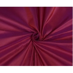 PURE SILK DUPIONI FABRIC HOT RED X PINK SHOT