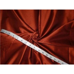 "100% SILK TAFFETA FABRIC PIN STRIPE - RUST  54"" wide sold by the yard"
