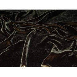 "silk velvet fabric 44:""wide ~black sold by the yard"