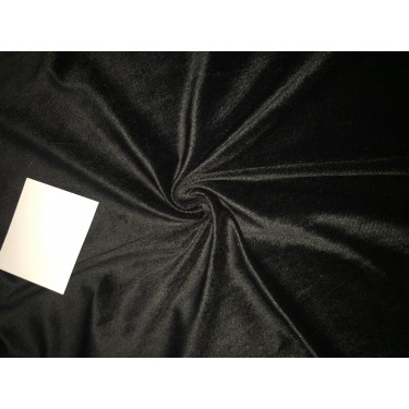 high quality velvet fabric- BLACK #magnum# -Width of the fabric is 142 Cm ( 56 inches ) .