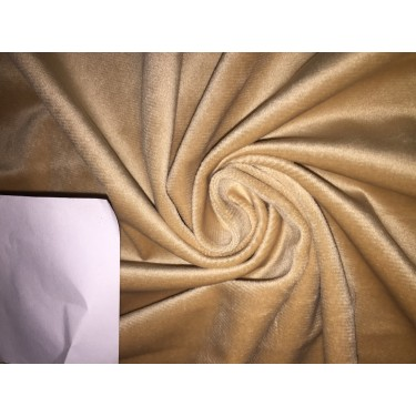 high quality velvet fabric- CHAMPAGNE #magnum# -Width of the fabric is 142 Cm ( 56 inches ) .