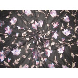 heavily embroidered net fabric black x onion color 44''wide B2#89