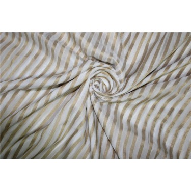 Modal Lurex Stripe fabric Gold and ivory 44'' FF12[2]