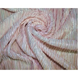 Pleated lurex Fabric cute light pink x silver color 58'' Wide FF1[9]