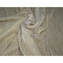 Pleated lurex Fabric champagne x gold color 58'' Wide FF1[10]