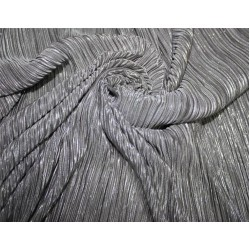 Pleated lurex Fabric grey x silver color 58'' Wide FF1[11]