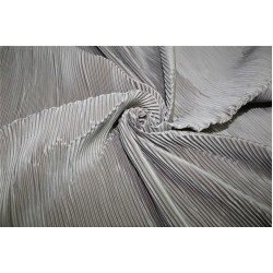 Polyester pleated fabric  fawn color 58'' wide FF11[4]