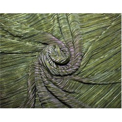 Pleated lurex Fabric green x gold color 58'' Wide FF1[8]