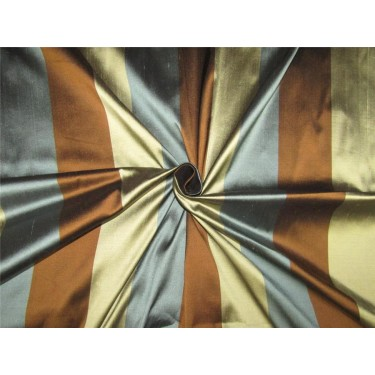 Silk Dupioni Fabric green/blue/ brown color 54'' wide DUP#S62