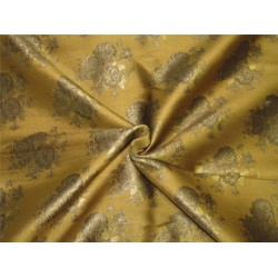 "Brocade fabric mustard gold x antique gold color 44""WIDE BRO648[1]"