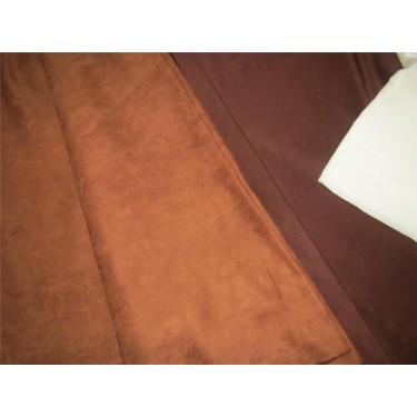 "Scuba Suede Knit fabric 59"" wide- fashion wear -tan brown color #18"
