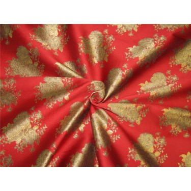 """Brocade fabric red x antique  gold color 44""""WIDE BRO648[2]"""
