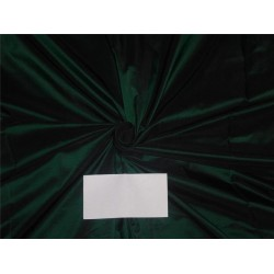 "100% Silk Taffeta Fabric Bottle Green x Black Color 54"" wide sold by the yard"