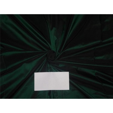 """100% Silk Taffeta Fabric Bottle Green x Black Color 54"""" wide sold by the yard"""