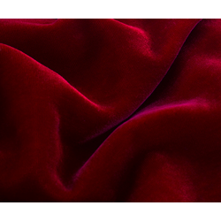 "micro velvet blood red color 44"" wide sold by the yard"