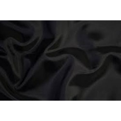 "100% Silk taffeta fabric dark night blue almost black 54""by the yard"